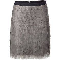 JASON WU Grey Rubber Paillette Skirt (11,965 MXN) ❤ liked on Polyvore featuring skirts, knee length pencil skirt, pencil skirts, jason wu skirts, gray skirt and grey skirt