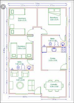 Casa Roça casa roça modern home decor - Modern Decoration Square House Plans, Small House Floor Plans, Simple House Plans, Bungalow House Plans, Family House Plans, Bungalow House Design, Small House Design, Dream House Plans, House Layout Plans
