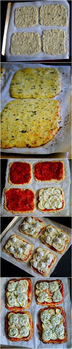 How to make Basil Cauliflower Pizza Crust - use any toppings you want!