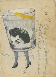 Ginny hits rock bottom. Original collage by Vivienne Strauss.