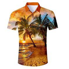 ea48ff86 Alisister Mens Hawaiian Shirt Male Casual Camisa Masculina Printed Bea –  liligla Types Of Shirts,