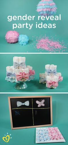 Is it a baby boy or is it a baby girl? Celebrate with your friends and family at a gender reveal party complete with DIY guessing games, diaper cakes, and confetti lanterns. These decoration ideas are a fun way for any expectant parents to reveal the gender with their favorite people.