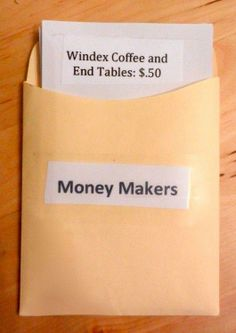 Money Makers! Great for chores