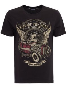 KingKerosin Print-Shirt, mit Front Print King of the Road für 29,99€. Cooles Print Shirt von King Kerosin, 100% Baumwolle, Regular Fit / normale Form bei OTTO
