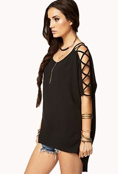 Strappy High-Low Top | FOREVER 21 - 2061910152