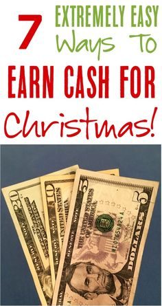 Easy Ways to Earn Money for Christmas!  Check out these money making hacks and tips to earn extra cash at home!