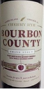 Cherry Rye Bourbon County Brand Stout: Holy berries batman, this brew is truly a delicious cherry bomb!