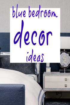 Gorgeous ideas for blue bedroom decor. From lighting to flooring and from paint to accessories and window dressings. A host of top tips for a stylish blue bedroom makeover and interior design Beautiful Space, Beautiful Homes, Grey Blinds, Blue Bedroom Decor, Window Dressings, White Fabrics, Simple House, Soft Furnishings, Fabric Design