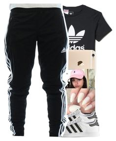 """Shout-out to........"" by trxp-trxll ❤ liked on Polyvore featuring adidas"