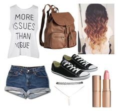 """""""Back To School"""" by aim-fire ❤ liked on Polyvore featuring Converse, H&M, Wet Seal and Charlotte Tilbury"""