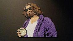 Big Lebowski The Dude Perler Bead by BeecherCrafts on Etsy