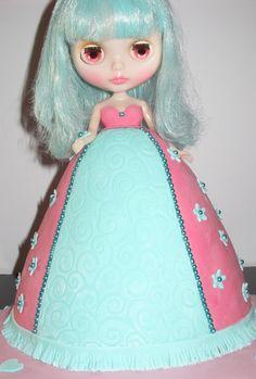 Blythe Doll Dolly Varden cake