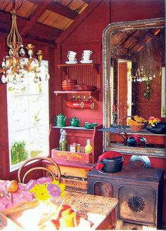 """pinner called it """"bohemian interiors"""" but I find the eclecticism and colors in small spaces inspiring"""