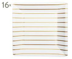 Pappteller Striped, 16 Stück