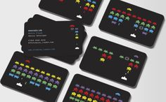 I love these Space Invaders business cards. I used to ROCK at this game!