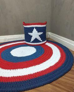 Diy Crochet Basket, Crochet Mat, Crochet Carpet, Love Crochet, Knitting Designs, Knitting Patterns, Crochet Patterns, Nautical Purses, Crochet Chain Stitch