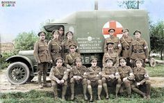 The was one of three Field Ambulance units raised to support Lloyd… World War One, First World, Army Medic, Ww1 Soldiers, Commonwealth, Emergency Vehicles, Antique Photos, British Army, Red Cross