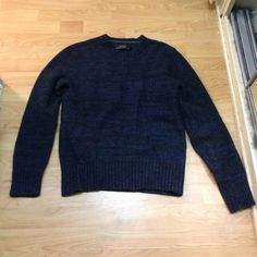 Beautify Club Monaco sweater Gorgeous blue and black club Monaco sweater. Perfect condition. The second picture is to show how the fabric looks up close. Made of 50% alpaca 30%wool 20% nylon. Make me an offer.  Make an offer, all reasonable offers considered, no low balling❤️❄️ Club Monaco Sweaters Crew & Scoop Necks