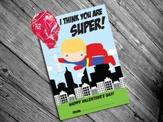 Printable Super Hero Valentine Cards for Kids with Lollipop Inserts