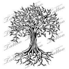 дерево жизни вектор силуэт - Поиск в Google