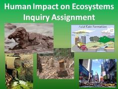 Allow your students to learn through inquiry. They will study the impact of a factor related to human activity that threatens the sustainability of an ecosystem in your area.   This activity was designed for a secondary ecology unit but can easily be adjusted to fit both elementary as well as middle school science classes.   Please view the Preview File.  Included in the lesson package is:  - A full overview of the task including a rubric - 9 topics to choose from
