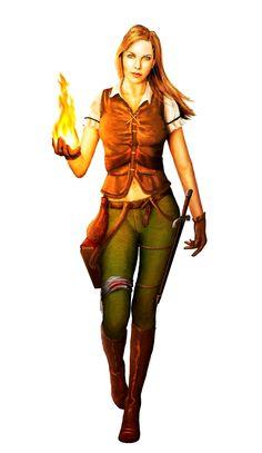 Female Human Wizard Rogue Adventurer - Pathfinder PFRPG DND D&D d20 fantasy