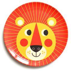 OMM Melamin-Teller Löwe Geschirr orange