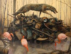 """""""I think Martin paints some of the most powerful works in contemporary art today."""" - Roq La Rue owner and featured guest curator Kirsten Anderson on the work of Martin Wittfooth #artistaday #curation #RoqLaRue"""