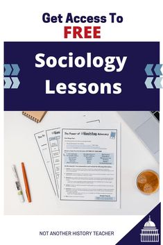 Join the Not Another History Teacher Club and Get free lessons for teaching high school sociology. Digital and Distance Learning lessons are included! #notanotherhistoryteacher #government #hsgovchat #sschat #socialstudies