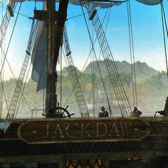 The Jackdaw and Edward Kenway. Assassin's Creed IV Black Flag.