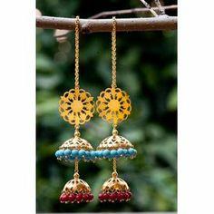 Buy Kashmiri Jhumka online - JaipurMahal ethnic online store |Rajasthan jewellery |Handicraft | gift shop | Handmade products| Wedding gift online | Jaipur online for India |Rajasthani Jewellery, Crafts
