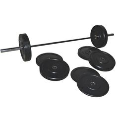 acf17bd42aaec Olympic Bumper Plate Set with High Intensity Training Bar (273Lbs)F  488 Fitness  Depot