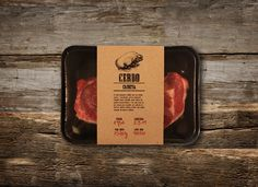Creative Designed meat packaging from Designspiration