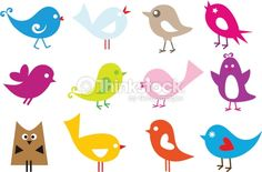 Clipart vectoriel : lovely birds
