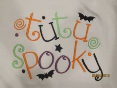 tutu Spooky Custom embroidered tshirt or one piece by lateedatees, $21.00