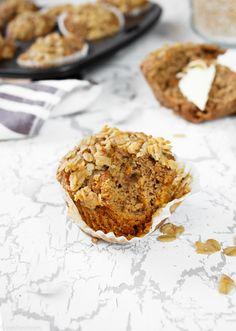 Hafermuffins mit Kleie & Karotte (vegan) Cake & Co, Mini Pies, Protein, Low Carb, Treats, Baking, Breakfast, Healthy, Desserts