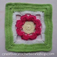 Fields Of Flowers Part Nine - Raised Rose Square | Creative Crochet Workshop
