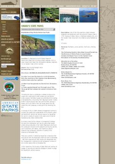HAWAII'S STATE PARKS -- Details on all state parks, hiking, camping & lodging (online reservations), park rules, health & safety, and archeology & history.