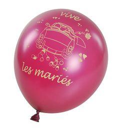 Ces ballons seront parfaits pour décorer votre salle de répcetion ou la voiture des mariés, à vous de jouer !
