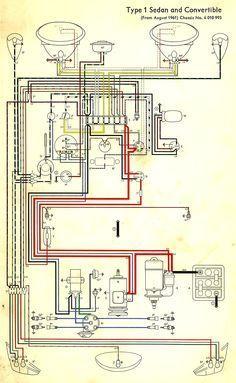 Wiring Diagram In Color 1964 Vw Bug Beetle Convertible The Samba Vw Beetles Vw Dune Buggy Vw Bug