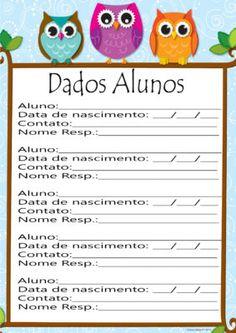 planner corujinha Planner, Yoshi, Teacher, Scrapbook, Kids, Fictional Characters, Literacy Activities, Kids Ministry, Teacher Planner