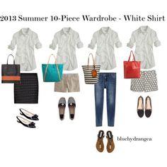 Summer Wardrobe - White Shirt by bluehydrangea, via Polyvore
