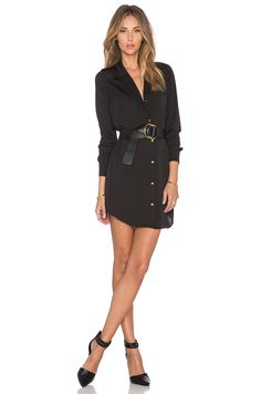 L'Academie The Tunic Dress in Black | REVOLVE