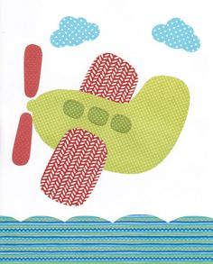 Plane Artwork Print // Baby Room Decoration // Kids Room Decoration // Gifts Under 20 / Little Boys Room wall art artwork kids children room on Etsy, $14.00