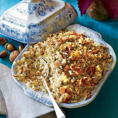 Grandmother Carter's Cornbread Dressing | Make Ahead: Freeze the unbaked dressing mixture in 2 (1-gal.) zip-top plastic freezer bags, making sure to press out all the excess air. Thaw in refrigerator five days before Thanksgiving, and continue recipe with Step 4.