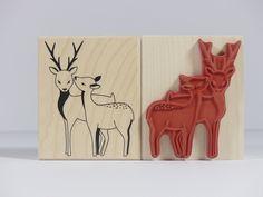 Stempel - Stempel Holzstempel Hirsch Reh Rotwild - ein Designerstück von Frau_Zwerg bei DaWanda
