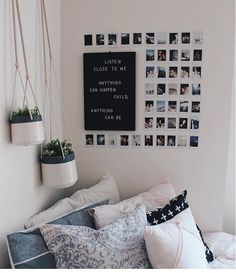 This Minimalist Dorm Room Makeover Is Absolutely Beautiful . Minimalist Dorm Decorating Ideas Along With Compact . 20 College Dorm Room Ideas To Channel Your Inner . Home and Family Cute Room Ideas, Cute Room Decor, Diy Room Ideas, Wall Ideas For Bedroom, Picture Room Decor, Picture Walls, Photo Walls, Diy Storage Ideas For Bedrooms, Picture On The Wall
