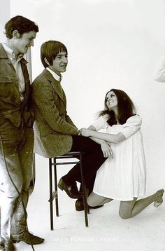 Alan Rickman, Nick Cudworth & some mates at Chelsea School of Art in the 60s. photoshoot by Alastair Campbell