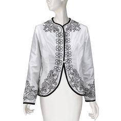 Scrolling Trim Embroidered Jacket - Jackets - Apparel - The Met Store