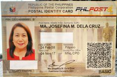 New Postal ID security features - Digital fingerprints capture, photo, signature and personal information - QR ('quick response') code printed on the card which can detect the Passport Application, Philippine News, First Names, Need To Know, Philippines, Photo Signature, No Response, How To Apply